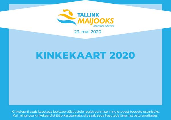 Tallink Maijooksu 2020 kinkekaart isevalitud väärtusega