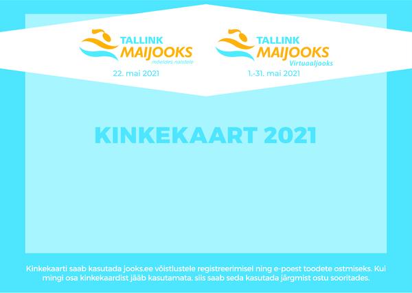 Tallink Maijooks 2021 kinkekaart isevalitud väärtusega